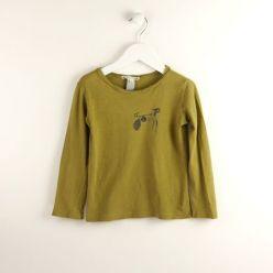 Bonpoint Langarm-Shirt oliv
