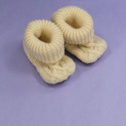 Melton Woll-Strickschuhe