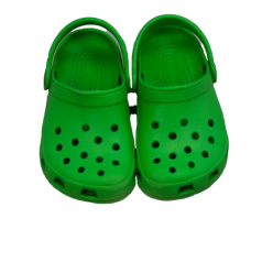 Quietschgrüne original Crocs