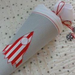 Handmade Stoff-Schultüte
