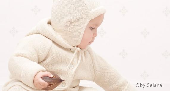 Selana Baby Strickjacke und Mütze